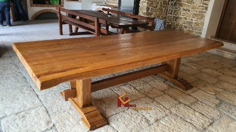 Tavolo in legno Massello/ In Pino Pece/ Cascio Nino