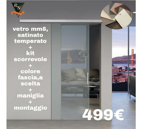 Porta Scorrevole / In Vetro/ Vetreria Raneri