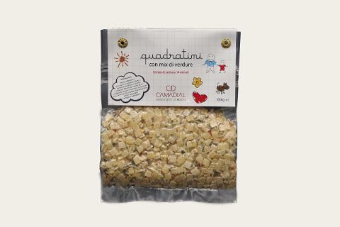 Quadratini con mix di verdure / Conf. da 100 gr. / Camadial Sicilia