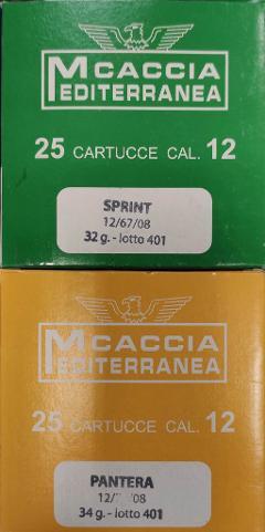 Sprint   e Pantera Mediterranea Caccia Contenitore