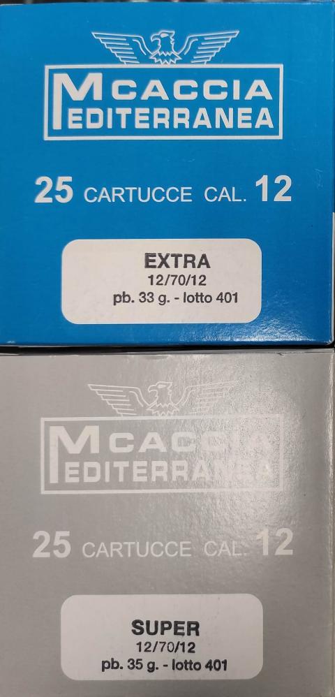 Extra  e Super Mediterranea Caccia contenitore e borra sughero