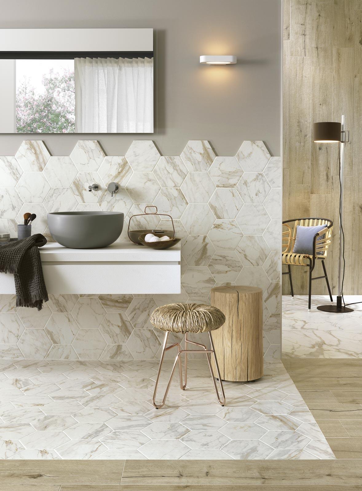 Pavimento Finto Marmo Lucido gres porcellanato effetto marmo lucido opaco ragno bistrot