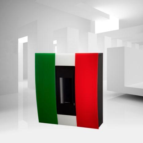 STUFA A PELLET ACQUA - ARIA - CANALIZZATA  Moretti Design Sport Line