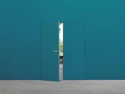 Telaio per porte battenti raso muro. Collezione Syntesis Battente Estensione Eclisse