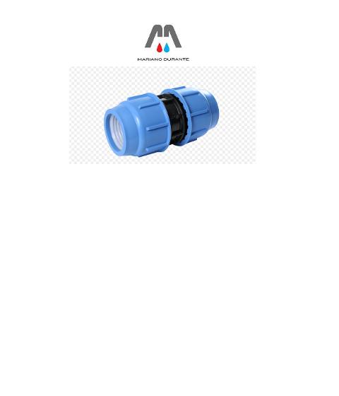 MANICOTTO PVC A COMPRESSIONE PLASTICA ALFA RACCORDERIA IN PVC PER POLIETILENE 138