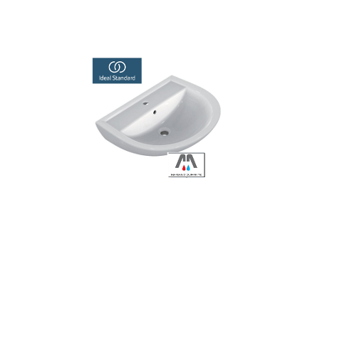LAVABO SEMICIRCOLARE IN PORCELLANA IDEAL STANDARD BEU