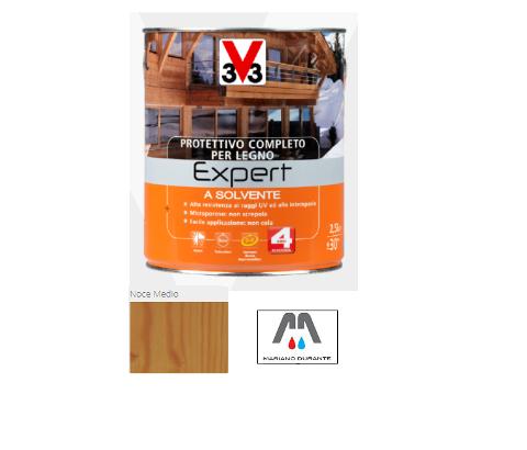 PROTETTIVO COMPLETO X LEGNO A SOLVENTE EXPERT  V33 NOCE MEDIO 070662 750ML