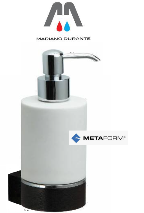 DISPENSER PORTA SAPONE IN LEGNO WENGE E CERAMICA  METAFORM ESSENZE 101088329