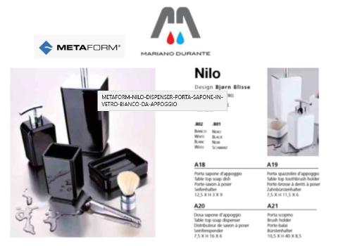 PORTA SAPONE IN VETRO NERO DA APPOGGIO  METAFORM NILO 103A18801 NERO