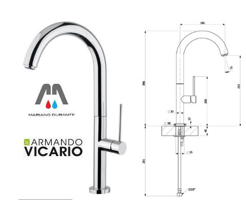 MISCELATORE LAVELLO SLIM P CROMO MODERNO DESIGN VICARIO ARMANDO serie SLIM P 400032CR