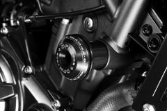 TAMPONI PARAMOTORE IN ALLUMINIO PER MOTO  DE PRETTO MOTO Yamaha MT07 TRACER 2017-2019