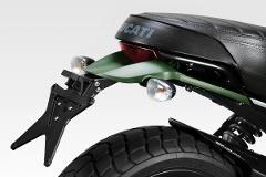KIT Portatarga Ducati I SCRAMBLER 800 De Pretto Moto Inclinazione Variabile Alluminio Taglio Laser Verniciato a Polvere