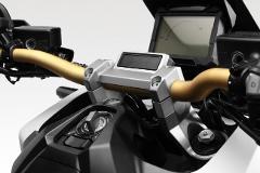 KIT Alzamanubrio HONDA XADV De Pretto Moto Alluminio Fresatura Naturale