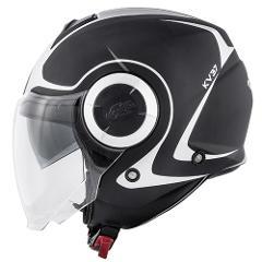 Casco get per moto con visiera interna per il sole   KAPPA  OREGON TWIST NERO OPACO & GRIGIO