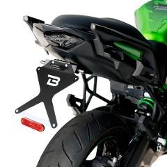 Portatarga kit Kawasaki Versys 650 BARRACUDA  Alluminio Reclinabile
