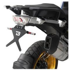 Porta Targa Kit BMW R1250 GS BARRACUDA  alluminio anodizzato nero + snodo in acciaio
