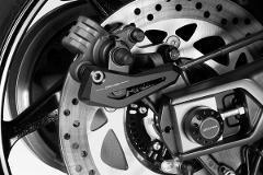 Copertura Cover Pinza Freno Posteriore Yamaha T-Max 530 2017/19 De Pretto Moto Alluminio Anodizzato Ricavato Dal Pieno Nero