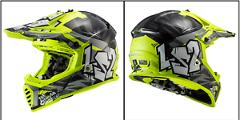 Casco Motocross cross  enduro  per moto  LS2 MX437 FAST EVO