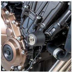 Kit Tamponi Paratelaio Honda CB650R 2019 Barracuda PVC nero  distanziali in alluminio anodizzato