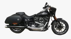 Scarico finale slip-on omologato  compatibile per gamma Harley-Davidson® Softail® Milwaukee Eight® BS EXHAUST  HARLEY DAVIDSON  SOFTAIL SPORT GLIDE® 2018-UP