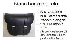 Borsa in Vera  Pelle Idrorepellente Singola Special Parts Mono Piccola