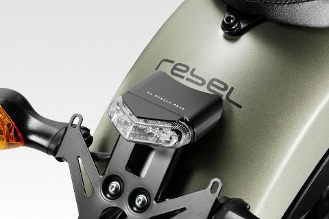 Portatarga  HONDA CMX 500 2017/2020 De Pretto Moto Prodotto specifico con faro a led omologato E11 a tre luci: posizione, stop e luce targa.