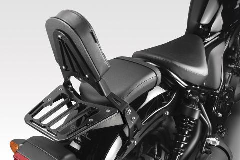 Portapacchi Honda Rebel CMX 500  DE PRETTO MOTO Alluminio Anodizzato Ricavato Dal Pieno Nero