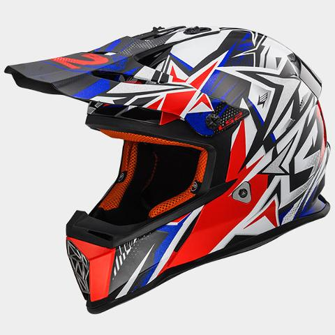 Casco cross  per moto  LS2 LS2 FAST STRONG