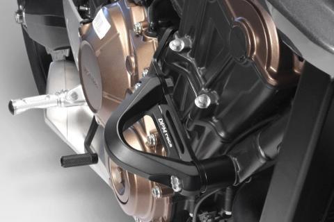 Paramotore HONDA CB 650 R 2019 De Pretto Moto Alluminio Anodizzato Ricavato Dal Pieno Nero