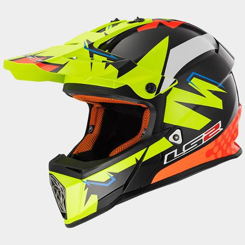 Casco Motocross  per moto  LS2 CROSS FAST VOLT MX 437