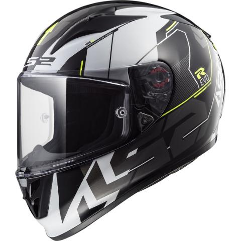 Casco integrale in fibra per moto  con visiera interna per il sole  LS2 CASCO LS2 ARROW R  EVO FF323