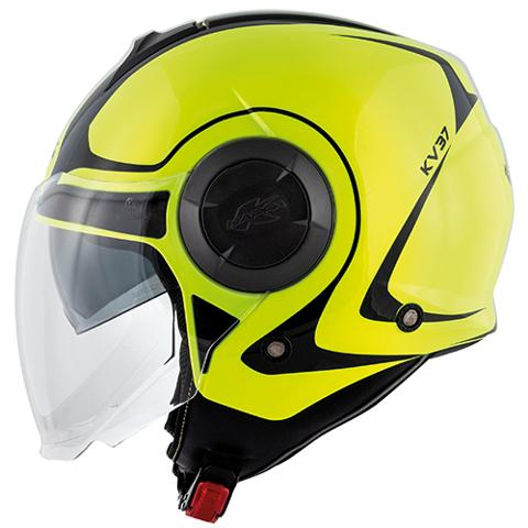 CASCO KAPPA OREGON TWIST GIALLO FLUO E NERO LUCIDO