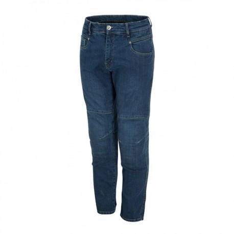 Jeans tecnici  moto con protezioni  LUMA  QUATTRO CE KEVLAR Denim Blu