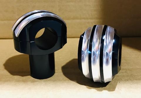 Supporti Manubrio universali in Alluminio  GENERICO  FUNGO FRESATO BASE NERO DIAMETRO 25