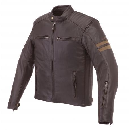 giacca da moto in pelle usata