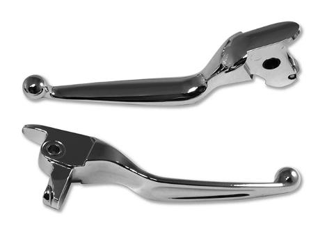 KIT LEVE CUSTOM CROME Touring Levers Chrome/ Black