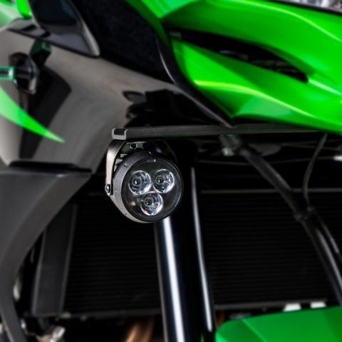 Attacchi Faretti Kawasaki Versys 650 2017/19 BARRACUDA  INOX 30/10 alleggerito