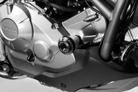 Tamponi Paramotore Honda NC750S 2014-19 NC750X 2014-19 De Pretto Moto WARRIOR Nylon/Alluminio Anodizzato