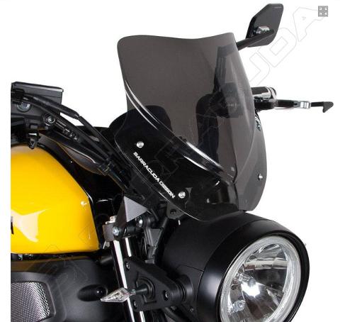 Cupolino Yamaha XSR 700 Barracuda AEROSPORT realizzato in plexiglass semitrasparente colore fume' scuro