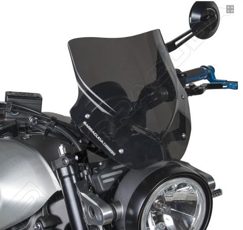 Cupolino Parabrezza Yamaha  XSR900 2015/2019  Barracuda AEROSPORT realizzato in plexiglass semitrasparente colore fume' scuro
