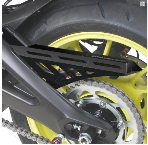 Copricatena Yamaha Tracer 900 - GT  MT-09 (2017 - 2019) Barracuda  Alluminio anodizzato in NERO