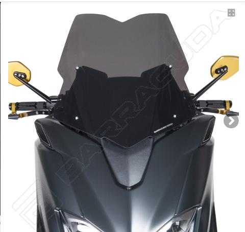 Cupolino Parabrezza Yamaha T - MAX 530 2017 - 2019 Barracuda Aerosport Plexiglass semitrasparente colore fume' scuro