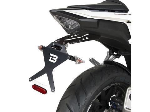 Kit Targa  Portatarga  Regolabile  per moto  BARRACUDA  Honda CB 500F 2016 - 18 Honda CB500F 2019-20)Honda CBR 500R 2016 - 17