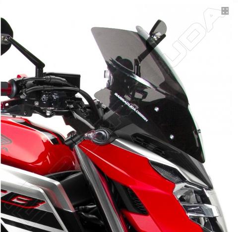 Cupolino Parabrezza Honda CB650F 2017-2019 Barracuda Aerosport Plexiglass semitrasparente colore fume' scuro