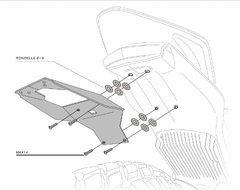 Kit Targa  Portatarga  Regolabile  Zero DS Barracuda Reclinabile Alluminio anodizzato nero con snodo in acciaio