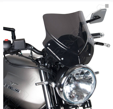 Cupolino Parabrezza Moto Guzzi V7 II Barracuda AEROSPORT realizzato in plexiglass semitrasparente colore fume' scuro