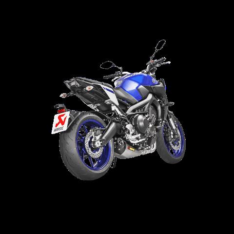 Scarico Completo Yamaha MT 09 FZ 09 Omologato Akrapovic Collettori in inox silenziatore in titanio fondello in carbonio