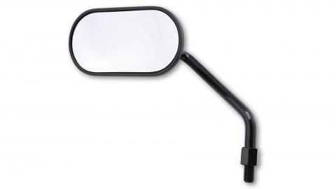 Specchietto Retrovisore Moto Univrsale ovale Shin yo Agila Classico da Manubrio Alluminio Nero