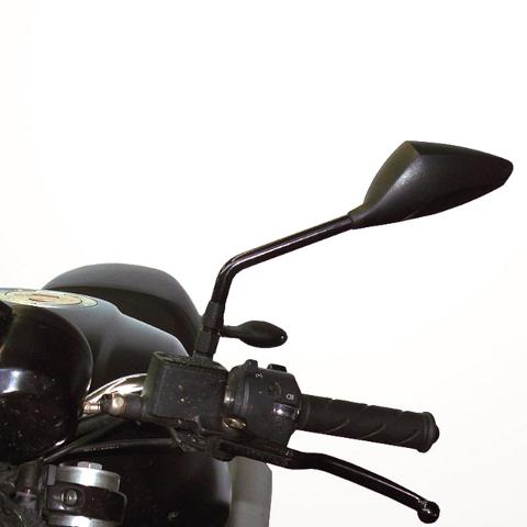 Specchietto Retrovisore Moto Univrsale  FAR HANDLEBAR Racing Nero