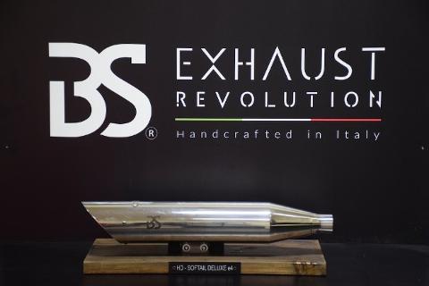 Scarico finali marmitta   slip on Harley omologate  BS EXHAUST  HARLEY DAVIDSON SOFTAIL  Deluxe, Heritage 2018-up